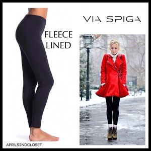 BLACK FLEECE LINED COZY BRUSHED LEGGINGS A2C